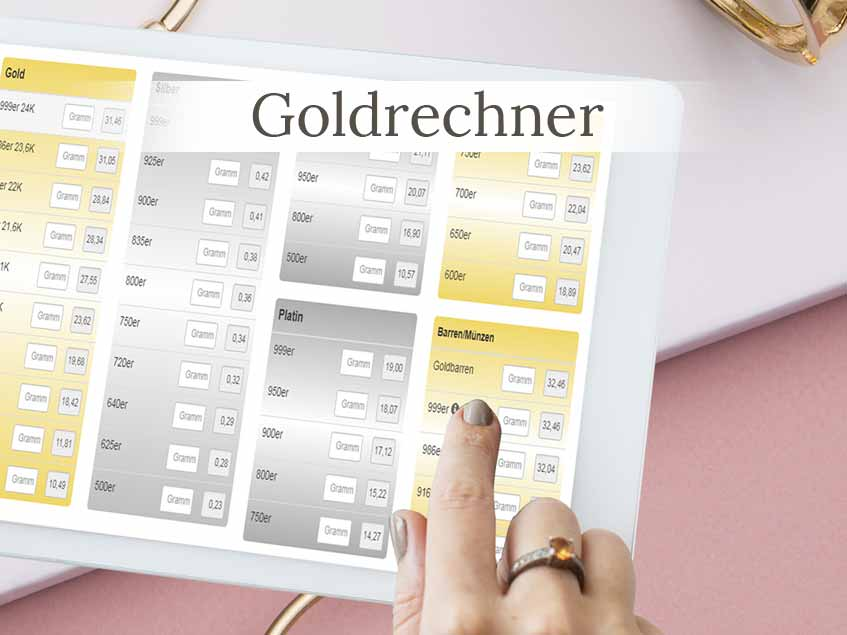 Goldrechner Goldkurs